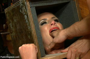 Nude blonde gets box on head as she assa - XXX Dessert - Picture 4
