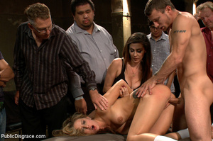 Blonde gets caned, roped and clipped pub - XXX Dessert - Picture 7
