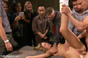Blonde gets caned, roped and clipped pub - XXX Dessert - Picture 8