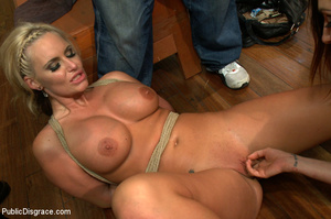 Nude blonde gets box on head as she assa - XXX Dessert - Picture 14