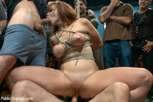 Lusty babe roped and bound gets fondled, - XXX Dessert - Picture 8