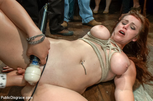 Lusty babe roped and bound gets fondled, - XXX Dessert - Picture 9