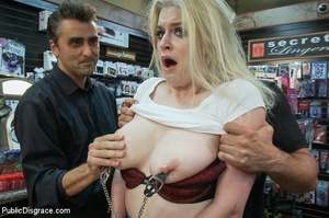 Hot blonde clipped on tits, chocked, bou - XXX Dessert - Picture 1