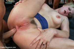 Hot blonde clipped on tits, chocked, bou - XXX Dessert - Picture 7