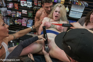 Hot blonde clipped on tits, chocked, bou - XXX Dessert - Picture 10