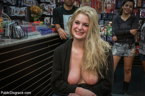 Hot blonde clipped on tits, chocked, bou - XXX Dessert - Picture 15