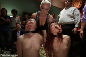 Two chicks dominated by blonde made to e - XXX Dessert - Picture 4