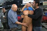 lusty blonde roped zapped