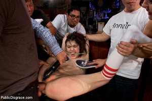 Slim nude girl in bar gets pinched and f - XXX Dessert - Picture 12