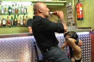 Nude chick sucks bald guy's dick outdoor - XXX Dessert - Picture 12