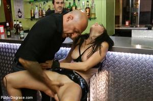 Nude chick sucks bald guy's dick outdoor - XXX Dessert - Picture 13