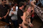 blonde gets roped she