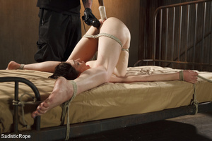 Young babe gets stripped, roped and hung - XXX Dessert - Picture 8