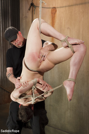 Young babe gets stripped, roped and hung - XXX Dessert - Picture 14