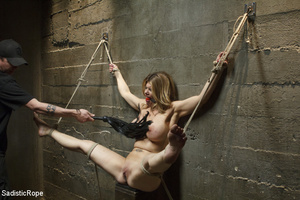 Guy ropes chick to cage, wall and table  - XXX Dessert - Picture 8