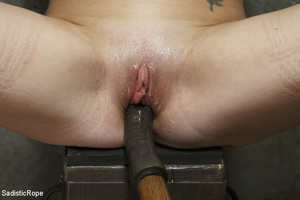 Guy ropes chick to cage, wall and table  - XXX Dessert - Picture 9