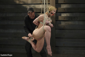 Hot blonde gets roped with her big tits  - XXX Dessert - Picture 5