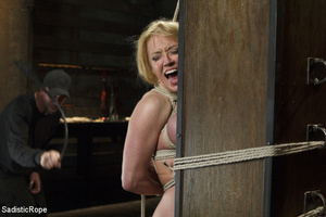 Hot blonde gets roped with her big tits  - XXX Dessert - Picture 12