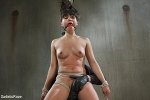 Chick tied with rope and suspended upsid - XXX Dessert - Picture 3
