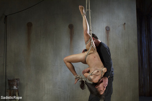 Chick tied with rope and suspended upsid - XXX Dessert - Picture 8