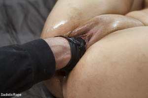 Chick tied with rope and suspended upsid - XXX Dessert - Picture 9