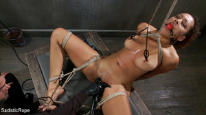 Black girl with hot tits gets hung with  - XXX Dessert - Picture 4