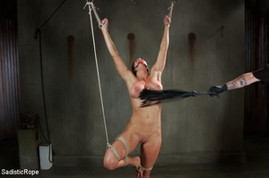 Chick bound with ropes get whipped and c - XXX Dessert - Picture 2