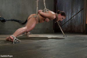 Chick bound with ropes get whipped and c - XXX Dessert - Picture 5