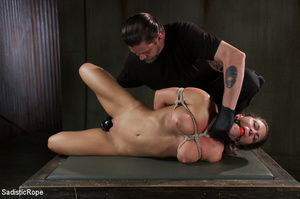Chick bound with ropes get whipped and c - XXX Dessert - Picture 10
