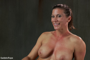 Chick bound with ropes get whipped and c - XXX Dessert - Picture 11