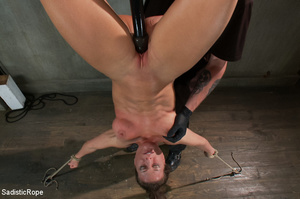 Chick bound with ropes get whipped and c - XXX Dessert - Picture 13