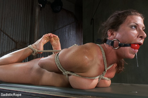 Chick bound with ropes get whipped and c - XXX Dessert - Picture 14