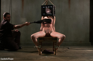 Girl s tied to chair with box on head an - XXX Dessert - Picture 2