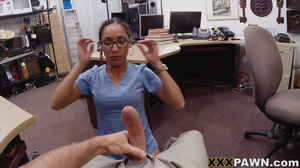 Swarthy nurse in uniform and glasses fuc - XXX Dessert - Picture 4