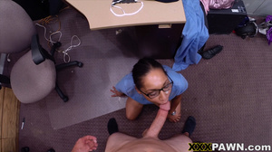 Swarthy nurse in uniform and glasses fuc - XXX Dessert - Picture 12