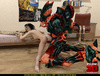 Terrible 3D alien is breaking into a house and pounding a brunette babe