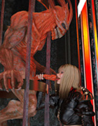 Blonde whore in gloves got pounded hard during her calling the demon with