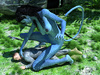 Blue-skinned busty monster Navi with a long tail fucking a guy angrily