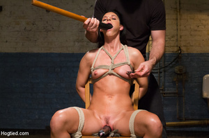 Slim sexy bitch tied to chair and then h - XXX Dessert - Picture 5