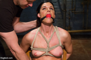 Slim sexy bitch tied to chair and then h - XXX Dessert - Picture 6