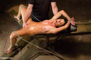 Slim sexy bitch tied to chair and then h - XXX Dessert - Picture 10