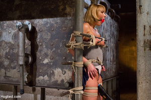Blonde with big hot tits and butt tied w - XXX Dessert - Picture 5