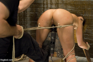 Sexy chick roped to bench and then hung  - XXX Dessert - Picture 6