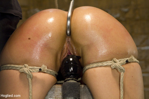 Sexy chick roped to bench and then hung  - XXX Dessert - Picture 7