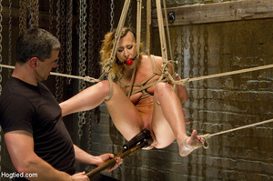 Sexy chick roped to bench and then hung  - XXX Dessert - Picture 11