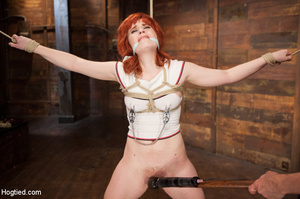 Lusty redhead loves being tied, hung and - XXX Dessert - Picture 4