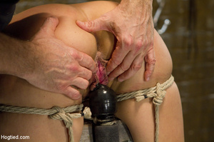Sexy chick roped to bench and then hung  - XXX Dessert - Picture 12