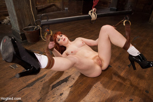 Lusty redhead loves being tied, hung and - XXX Dessert - Picture 8