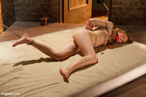 Slim sexy damsel stripped, roped and hun - XXX Dessert - Picture 5
