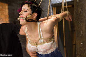 Sexy flexible girl folded and tied on ch - XXX Dessert - Picture 2